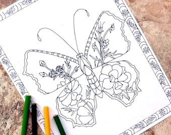 Coloring Pages Ladybug : Steampunk coloring page coloring pages top hat coloring