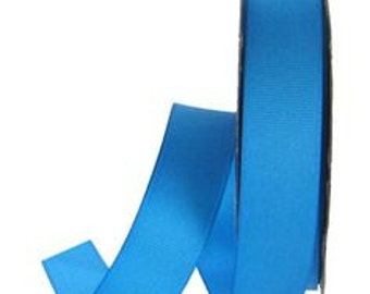 """Double Faced Playacar Blue Satin Ribbon - 7/8"""" Wide - 100% Polyester - 7 Yard Spool"""