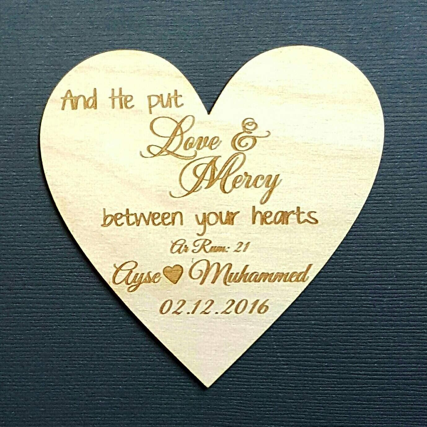 Wedding Favor, 3 Wedding Favor Magnets, And he put love and mercy ...