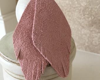 Leather Earrings- Dusty Rose