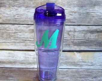Monogrammed 22oz Tumbler , Monogrammed Cup, Monogrammed Travel Cup, Personalized Tumbler