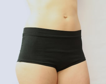 high waist boy short panties / retro style undies / pregnancy panties / super soft bamboo jersey underwear / by replicca / size S to XL