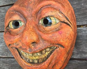 Jackolantern Mask Halloween Paper Mache Inspired