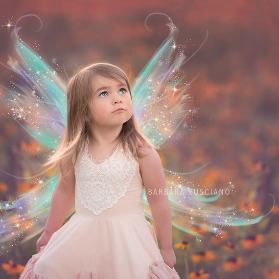Iridescent Digital Fairy Wings Overlays Png Photoshop