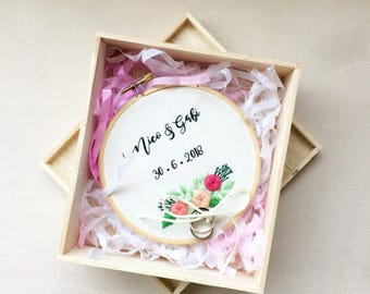 Embroidery Wedding Ring Holder