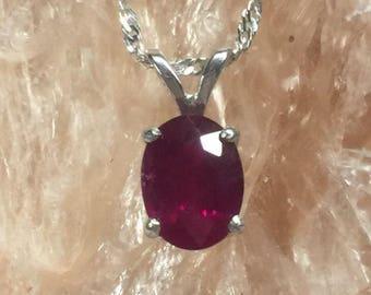 Stunning ruby pendant