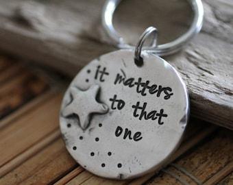 starfish story key chain, teacher, adoption, personalized gift