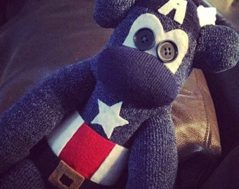 Captain America Sock Monkey