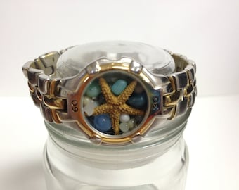 Repurposed Upcycled/Recycled Beach Watch Bracelet W11