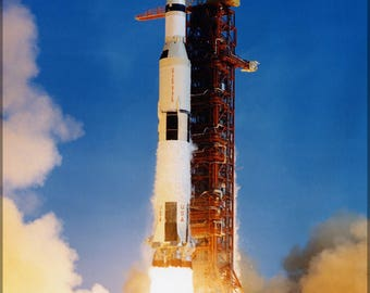 Poster, Many Sizes Available; Saturn V Rocket Launches Apollo 11 In 1969