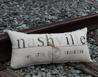 Hometown Nashville, TN Pillow