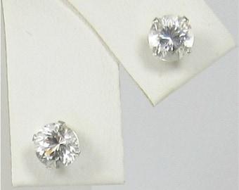 Danburite 5mm Sterling Silver Gemstone Stud Earrings