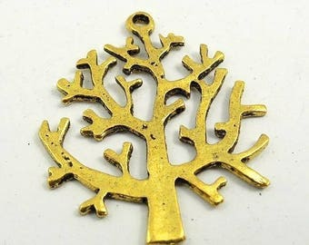 5 charm tree color old gold 27 * 28 * 1 mm