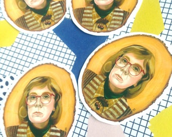 4x Log Lady Vinyl Stickers Matt Twin Peaks