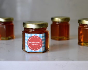 Honey Jar Favors | Custom Jar | Personalized | Bridal Shower | Wedding