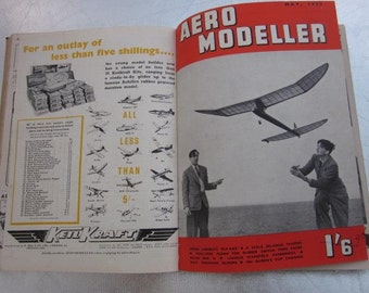 1952 12 x AERO MODELLER Magazines Bound Issues Jan 1952 - Dec 1952 Make Your Own Aeroplanes Plywood Model Patterns Plans