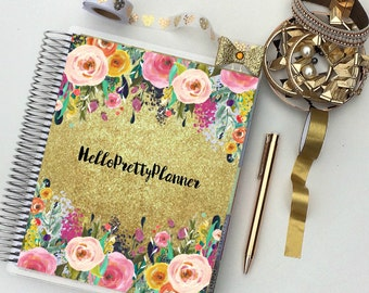 """CUSTOMIZABLE Happy Planner Cover Set: """"Your Name Here"""", 10 Mil Laminated"""