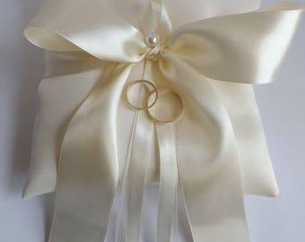 IVORY Wedding Ring Pillow - Ring Bearer Pillows - White, Diamond, Ivories
