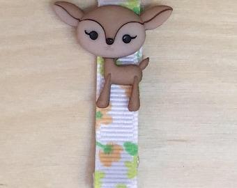 Forest Friend Deer Barrette, Baby Toddler Hair Clip, Fawn Barrette