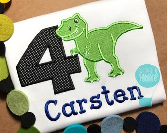 Dinosaur Shirt / Dinosaur Applique / Dinosaur Birthday Shirt / Birthday Shirt / 1st Birthday Shirt / Birthday Outfit / Boy Dinosaur Shirt