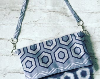 Handbag, grey handbag, grey bag, hexagon bag, ombre handbag, shoulder bag, grey shoulder bag,