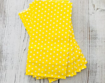 Yellow Polka Dot Party Bags - SOS Bag for Pretty Packaging - Loot Party Bag - Snack Bag - Yellow Party Decor - Yellow Polka Dot Party