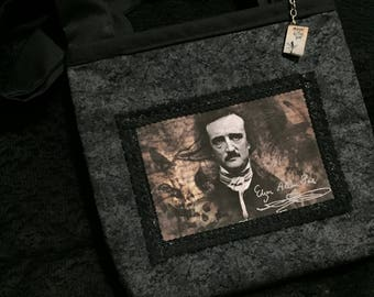 Edgar Allan Poe mini tote bag