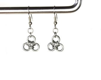 Celtic Style earrings, Zelda Triforce, Choose Stainless Steel or Copper