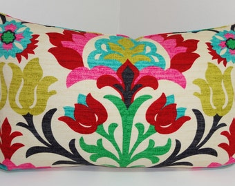 Waverly Santa Maria Desert Flower Lumbar Floral Print Decorative Pillow Cover 12x20, 12x24
