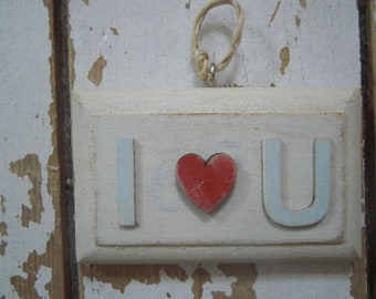 I love u mini sign