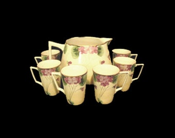 7 Piece Antique Nippon Te Oh Lemonade Set - Hand Painted