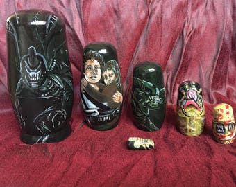 Themed set of Russian dolls