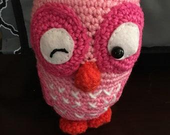 Large Cuddly Amigirumi Owl-Crochet Owl