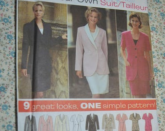 Simplicity 9878 Misses Suit Sewing Pattern - UNCUT - Size 8 10 12 or  Size 14 16 18