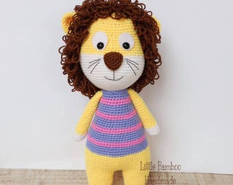 PATTERN- Lion - Crochet pattern, pdf