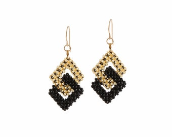 Gothic earrings squares