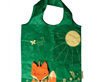 Sass and Belle Fox Foldable Shopping Bag