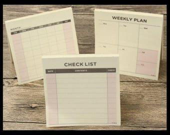 Little Check List Memo Pad Journalling Scrapbooking