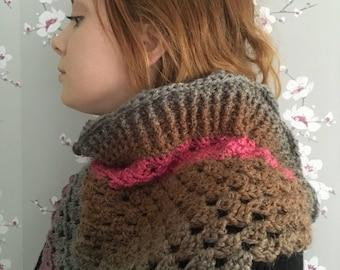 Crochet neckwarmer - crochet collar - crochet shawl - crochet scarf - irish gift - hygge shawl