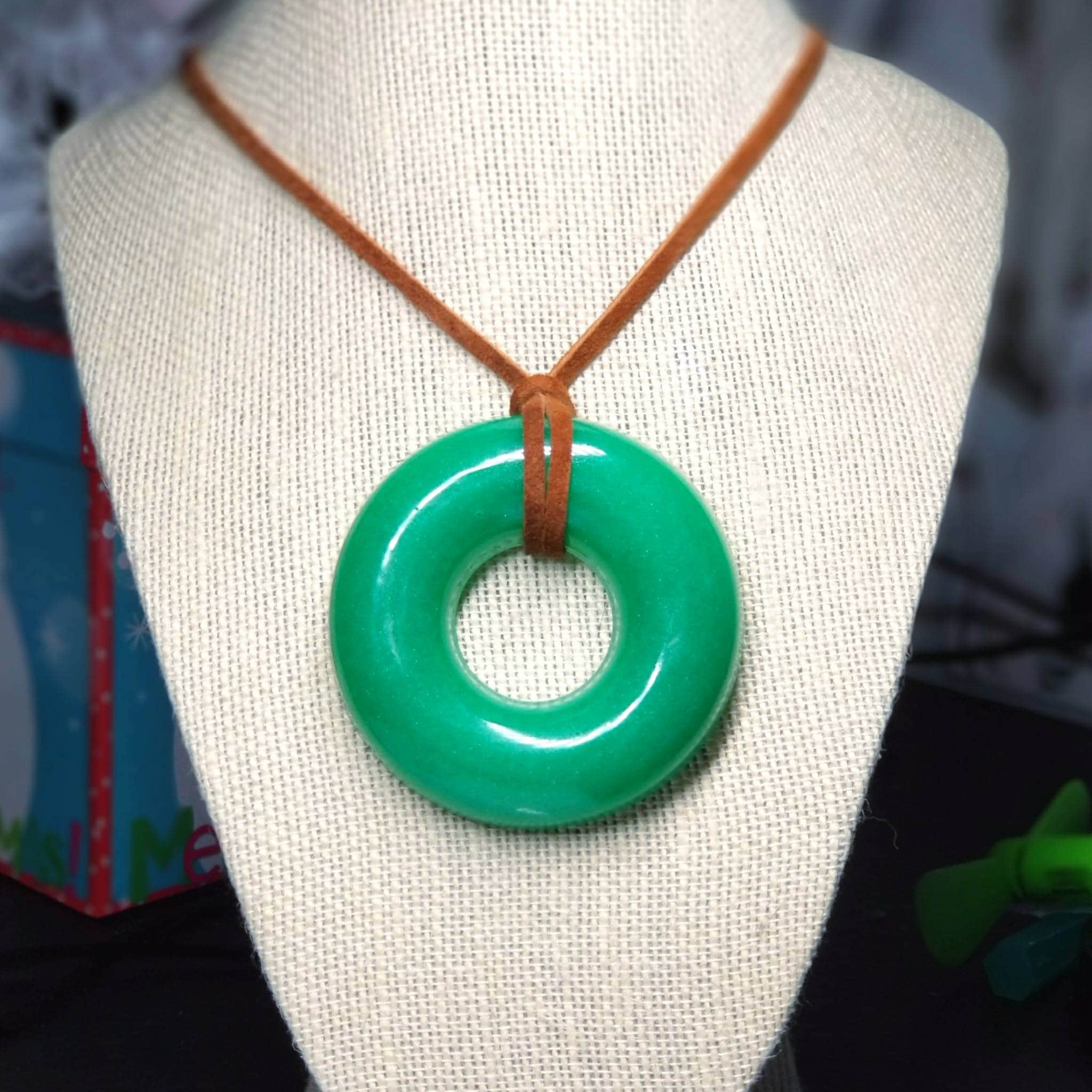 today x gold circle necklace pendant overstock yellow inch jade jewelry product shipping watches green free