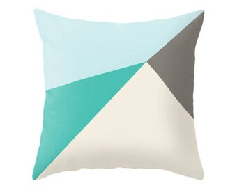 Teal and brown cushion cover teal and brown throw pillow teal home decor teal cushion teal pillow teal throw pillow teal and brown decor