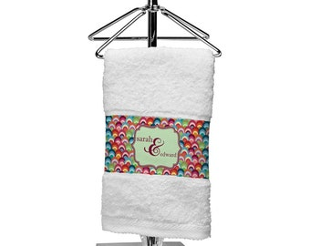 Retro Fishscales Finger Tip Towel (Personalized)