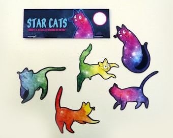 Star Cats Sticker Packet