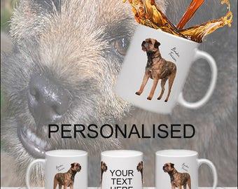 Border Terrier Personalised Mug