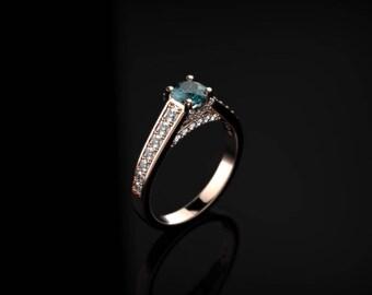 Alexandrite Engagement Ring Rose Gold Engagement Ring Alexandrite Ring Alexandrite Gold Rose Gold Alexandrite Ring
