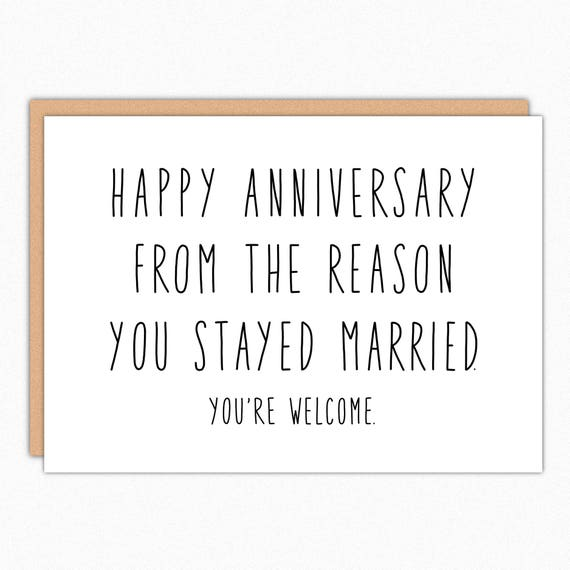 Happy Anniversary Gifts For Parents: Anniversary Card For Parents. Happy Anniversary Parents. Funny