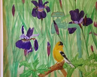 Iris Spring- original watercolor