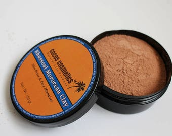 Moroccan Clay Rhassoul / Red Moroccan Clay / Rhassoul Clay For Oily Hair / Detox Facial Mask / Detoxifying Face Mask/