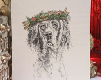 Boxed English Setter Holiday Cards