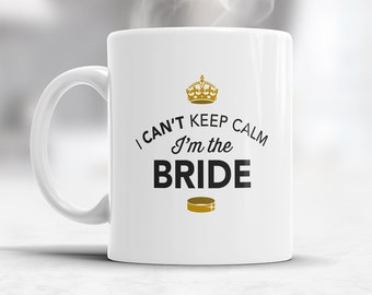 Bride  Gift, Bride Mug, Bachelorette Party, Bride To be, Alternative Bride Glass, Bachelorette Party Gift, Wedding Idea, Keep Calm Bride Mug